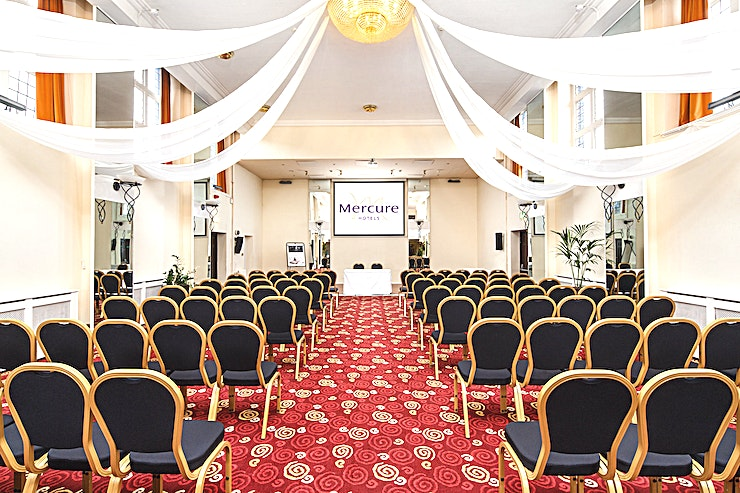 Ballroom **The Ballroom at Mercure Leeds Parkway Hotel is a stunning wedding venue for hire in Leeds.**