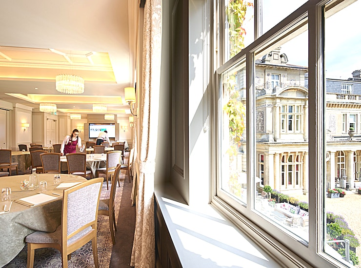 Oxford **Located in the newly refurbished West Wing, the Oxford is one of Down Hall's larger meeting rooms and provides all the modern touches you would expect.**   Facilities include an iiyama 86-inch int