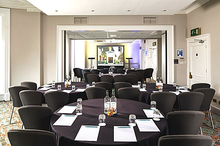 Ambassador Suite **The Ambassador Suite at Mercure Gloucester Bowden Hall Hotel is a spacious event venue for hire in Gloucester.**  The Space holds up to 100 Guests and is situated on the first floor of the hotel. The Space offers superb views over the lawn, lakes and gardens.  Mercure Gloucester Bowden Hall Hotel provides a stylish blend of traditional and contemporary design creates a relaxed, comfortable atmosphere throughout this stunning venue.