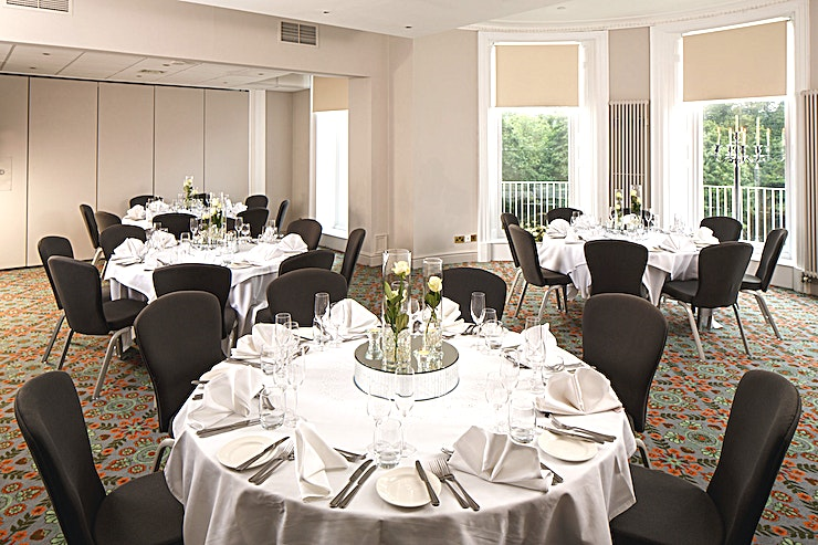 Presidential Suite **The Presidential Suite at Mercure Gloucester Bowden Hall Hotel is a stylish event venue for hire in Gloucester.**  The Space holds up to 40 Guests in Theatre and Banquet layout and has private din