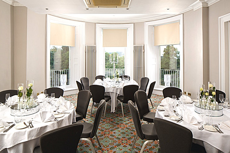 Senate **Senate at Mercure Gloucester Bowden Hall Hotel is a stylish event venue for hire in Gloucester.**  The Space holds up to 30 Guests in Theatre and Banquet layout and has private dining available.