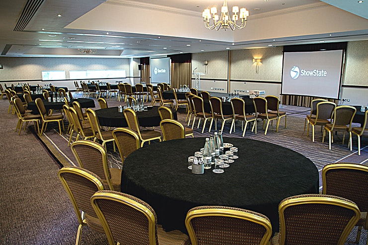 Windsor & Eton **The Windsor and Eton Rooms at Macdonald Berystede Hotel & Spa combine to form a large event Space for hire in Ascot.**