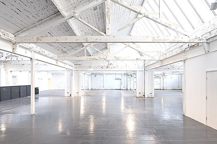Factory Works **Factory Works is a bright and airy canvas, with its industrial architecture and contemporary interiors making it an ideal venue for events.**   The venue comprises of 1,200sqm of combined space and consists of a main Space which can accommodate up to 400 guests for a seated meal, and 3 additional breakout Spaces should you need them. Also ideal for festivals, product launches, exhibitions and conferences.  The recently renovated Factory Works is a contemporary, bright and spacious venue, ideal for any event. Showcasing industrial architecture and modern features, this Space is perfect for creating your own unique Events.