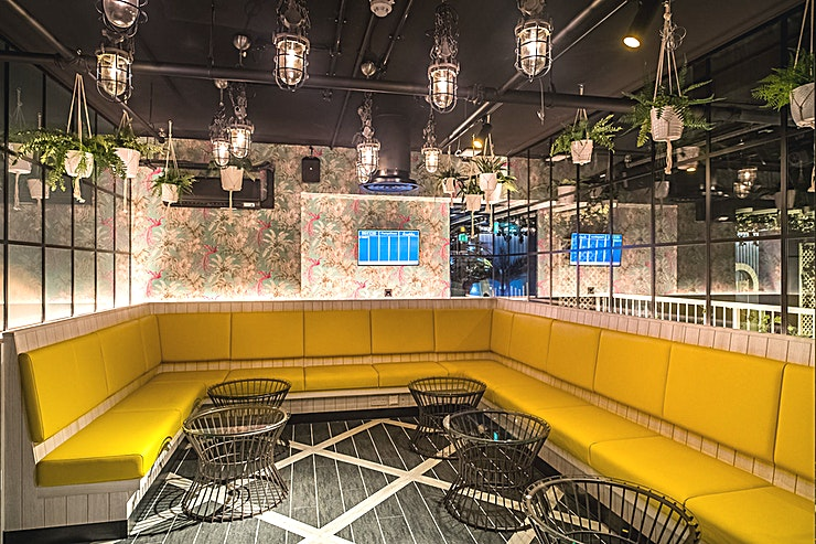 Private Dining Rooms **The Private Dining Rooms at Swingers West End is a vibrant party venue for hire near Oxford Circus.**   If your party is up to 100 Guests, why not join the 3 Private Room together and enjoy The Pa