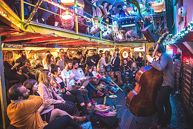The Lower Deck **Tamesis Dock is an affordable, unique and quirky space to rent for private parties and events in London.**