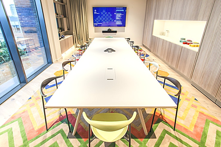 The Boardroom *Located on the 5th floor and benefiting from ample natural daylight, this beautiful boardroom would be the perfect setting for your next meeting.*