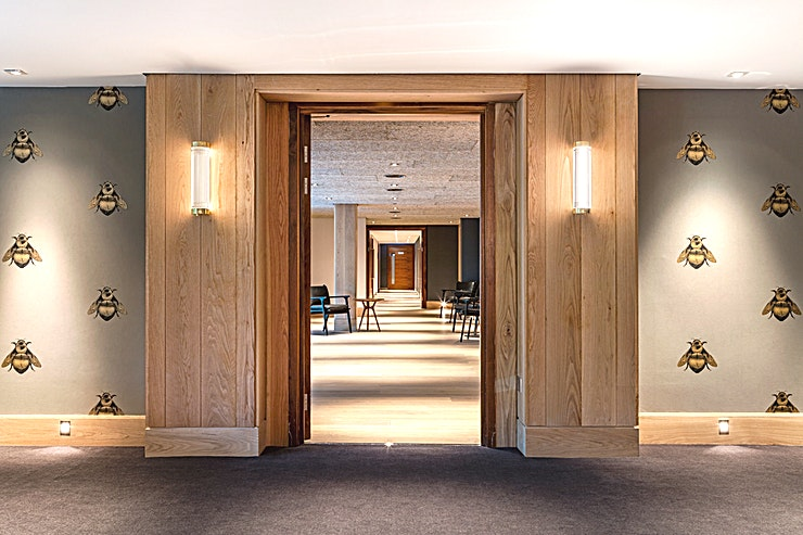 Private Room 4 **Hire Private Room 4 to add a sophisticated flare to your next corporate event or celebration**  Private Room 4 is dedicated to Edward Walters, who designed the Free Trade Hall's iconic façade and