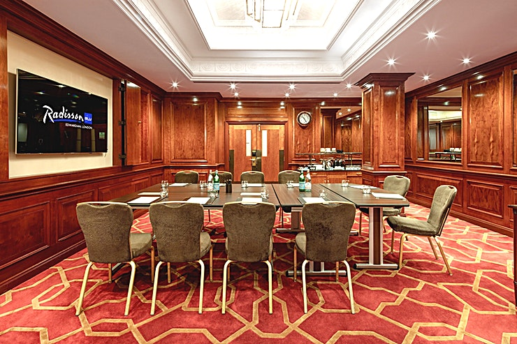 Private Room 33 **Looking for an event Space that is accommodating and accomplished? Hire Private Room 33 at the Radisson Blu Edwardian Heathrow**  This Space is an ideal meeting room hire in a prime location.  With Heathrow Airport on its doorstep. Private Room 33 is unmatched when it comes to the convenience of the corporate commuter.  Facilitating a comfortable Space for international clients and Guests. This Space is surrounded by the stunning layout of the hotel.  Whether it's a board meeting, team briefing or conference. Private Room 33 can cater to every need of the corporate client.  With a stylish boardroom accommodating up to 24 delegates. This Space has everything you'll need to hold your next successful meeting or conference.