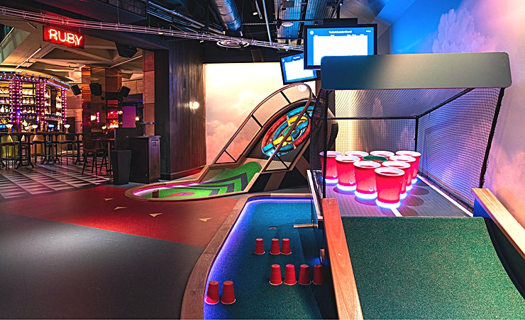 Exclusive Hire **Puttshack Bank is the latest venue in the Puttshack empire, now available for private hire**  If you've never been to Puttshack, where have you been?   Picture a tech-infused mini golf game with