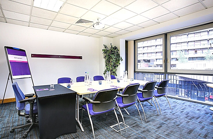Rana Recently refurbished, CCT Venues-Barbican offers a professional environment in a superbly convenient City location. The venue occupies the whole of Aldersgate House, on the corner of Aldersgate Street and Long Lane, in London EC1. The 22 training and meeting rooms are arranged over five floors and offer a range of bright, airy Spaces, with large windows and individually controlled air conditioning.  CCT Venues-Barbican has a great mix of room sizes, with capacity for groups of 4 to 150. The venue has a strong reputation for superb service and expert management of training events. In addition to great rooms, the venue also has a modern top floor Sun Restaurant, with capacity for over 140 and offering a range of freshly prepared food from our in-house chefs. All other floors have refreshment areas with tea and coffee facilities.  All rooms are well equipped with modern furniture, quality audiovisual equipment and powerful data links. Events are supported by our first class, highly experienced team who put warm, professional service central to everything.   You'll find the venue directly next to Barbican underground station and only a few minutes' walk from CCT Venues-Smithfield. City Thameslink mainline, Farringdon, St Paul's and Moorgate tube stations are also just a short walk away.   CCT Venues also have locations in Canary Wharf, offering great choice across London's busiest business districts.