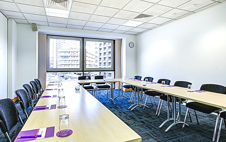 Apollo 2 Recently refurbished, CCT Venues-Barbican offers a professional environment in a superbly convenient City location. The venue occupies the whole of Aldersgate House, on the corner of Aldersgate Street and Long Lane, in London EC1. The 22 training and meeting rooms are arranged over five floors and offer a range of bright, airy Spaces, with large windows and individually controlled air conditioning.  CCT Venues-Barbican has a great mix of room sizes, with capacity for groups of 4 to 150. The venue has a strong reputation for superb service and expert management of training events. In addition to great rooms, the venue also has a modern top floor Sun Restaurant, with capacity for over 140 and offering a range of freshly prepared food from our in-house chefs. All other floors have refreshment areas with tea and coffee facilities.  All rooms are well equipped with modern furniture, quality audiovisual equipment and powerful data links. Events are supported by our first class, highly experienced team who put warm, professional service central to everything.   You'll find the venue directly next to Barbican underground station and only a few minutes' walk from CCT Venues-Smithfield. City Thameslink mainline, Farringdon, St Paul's and Moorgate tube stations are also just a short walk away.   CCT Venues also have locations in Canary Wharf, offering great choice across London's busiest business districts.