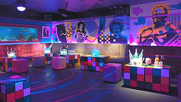 First Floor, Day Hire Maggie's is a 1980s themed boutique members nightclub in the heart of Chelsea, named after PM-turned-icon Maggie Thatcher. Home of the Pac Man Tini!