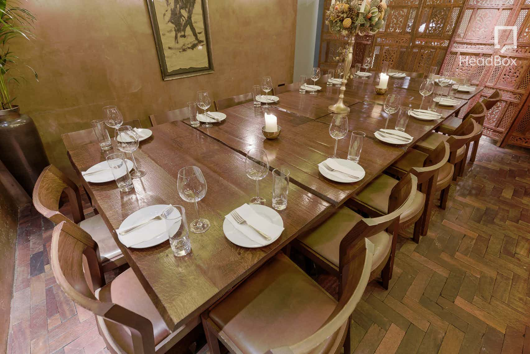 Lunchtime Exclusive Hire of Downstairs, Ember Yard
