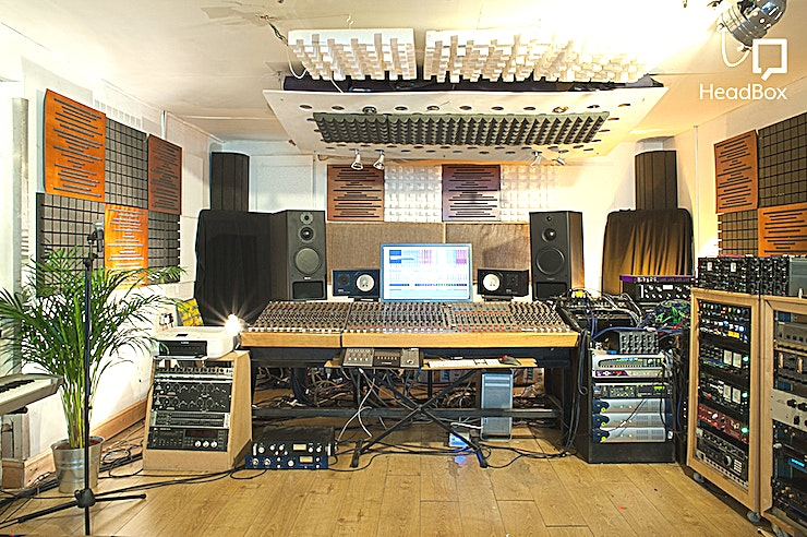 Studio Hire  **One Louder Studios is one of the recording studios Hackney has to offer.**  Located in Shoreditch, East London and five Minutes from both Old Street and Liverpool Street stations.   The studio consists of a Control/Live room, Drum booth and Vocal Booth packed with both vintage analogue and the latest digital equipment, accommodating for every recording studio scenario.  Whether you are a recording band, solo artist or mastering your album, the studio has an experienced team who will ensure that you realize the maximum potential of your project at this top recording studio London.  The atmosphere here is super friendly and they have an in-house cafe with delicious breakfast and fresh coffee.  One Louder Studios has over 25 years of experience combining the very best vintage analogue equipment with the very latest Pro Tools HD. The venue's Prism Converters offer the very best in analogue to digital conversion, all to achieve sound perfection at comprehensive rates.  --PLEASE NOTE THIS SPACE FEE IS A DRY HIRE--
