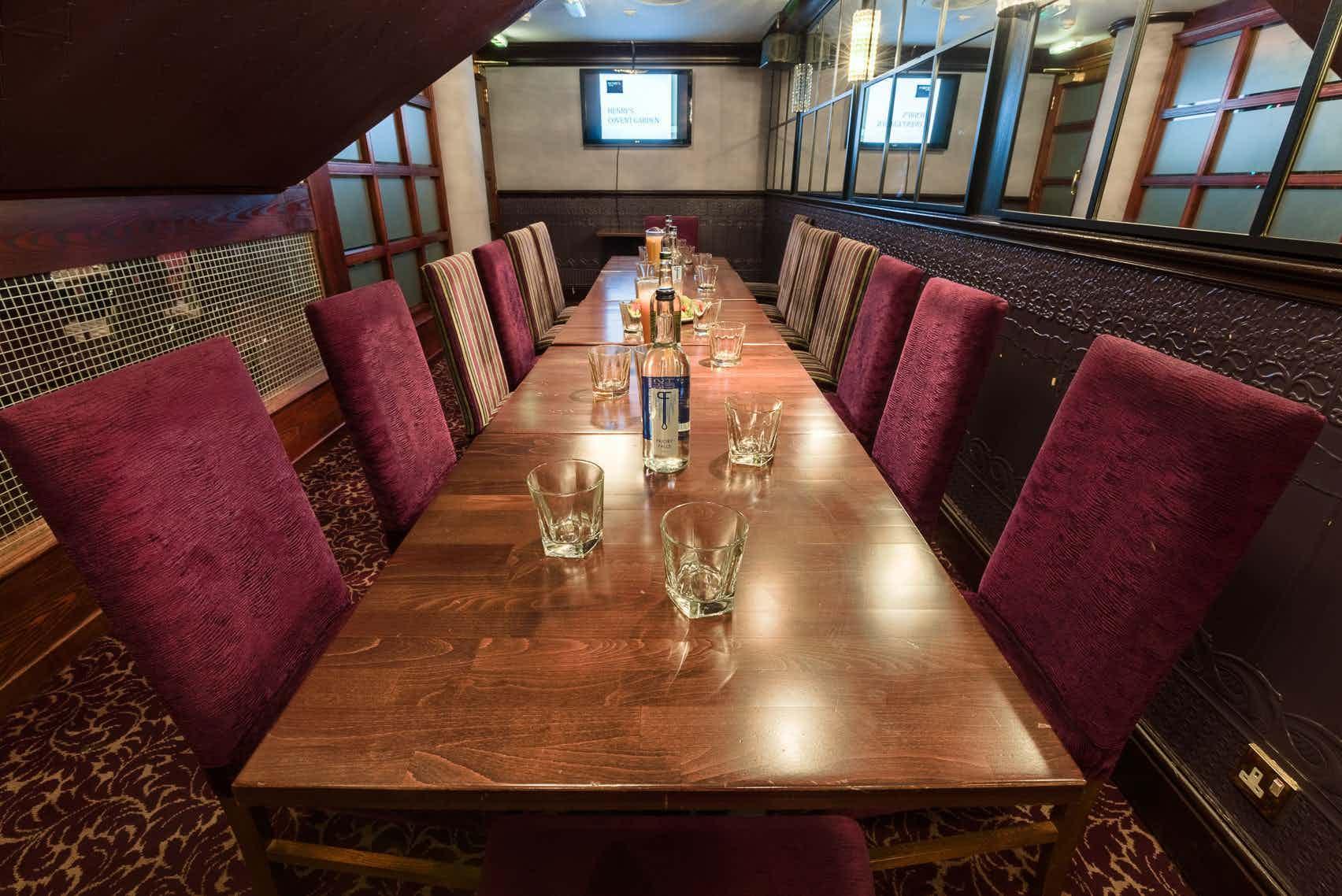 Dinner, Private Dining Room, Henry's Cafe Bar