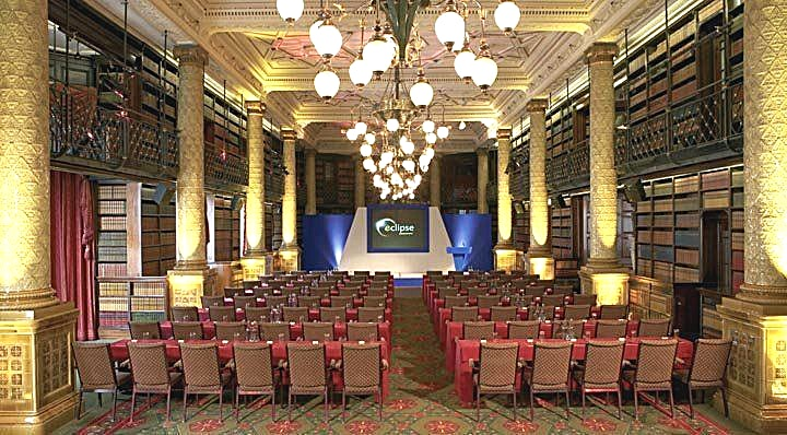Gladstone Library Event Room **If you're on the look out for an inspiring conference venue, London is home to The Royal Horseguards in Westminster which is the ideal venue for your corporate event.**  This venue makes for a spectacular location to hire for conferences and screenings and corporate events. The history behind this beautiful venue for hire in Central London adds to its appeal. One Whitehall Place was originally built as the home of the National Liberal Club. Its founder was William Gladstone, four times British Prime Minister, whose name lives on in the Gladstone Library. Though the 30,000 volumes that line the shelves today are faithful replicas, the room is otherwise just as he would have known it, including the gantry giving access to the upper levels, which now serves as a minstrel's gallery. With space to seat 300 people theatre-style, and the superb choice of dining options you'd expect from a 5-star London hotel, it's an inspiring setting for any private party, celebration or corporate occasion.  The Gladstone Library offers 280 square metres of space and enjoys high ceilings, natural daylight, air-conditioning and wireless internet access. Interconnected to The Reading and Writing Room, the two rooms can house up to 650 guests, making them perfect for networking events, cocktail receptions or launches. Alternatively one room can be used for exhibitions and catering whilst the other is ideally suited for a sit-down event and private parties.   The hotel can provide staging to cater for all types of event, and the in-house AV company can provide on-site technicians as required. The whole area is accessible for wheelchair users.  Please note this space fee is based on dry hire.