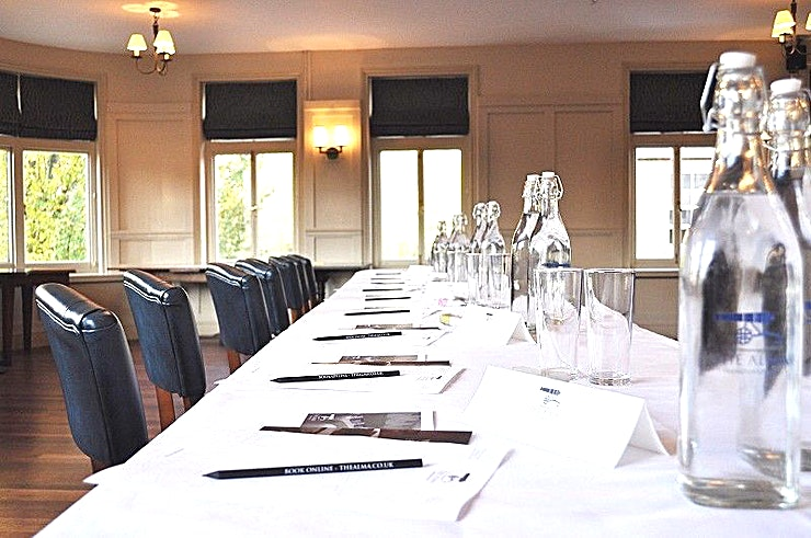 The Bramford Room With a variety of seating and table configurations possible, such as boardroom, theatre, or classroom style, the Bramford Room is the ideal location for your event. Depending on the arrangement, the room can have a maximum capacity of 85 people standing, or 55 seated.  There are dedicated kitchen facilities as well as private toilet facilities which keep any event a private matter. The room has its own bar, wireless internet access, and a choice of displays such as a 2m wide projector screen and flip charts. In addition, Wandsworth Town train station across the street from the venue will take you into the city in less than 15 minutes, as well as connecting you with the rest of the country via Waterloo Train Station or Clapham Junction. Together with our hotel, which can accommodate guests attending your event, our Bramford Room is suited for any need.