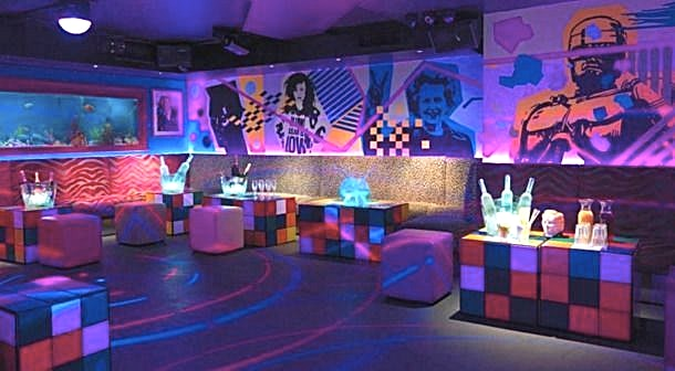 First floor, Evening Hire **The First Floor at Maggie's is a unique party venue for hire in Chelsea.**  Maggie's is a 1980s themed boutique members nightclub in the heart of Chelsea, named after PM-turned-icon Maggie Thatcher. Home of the Pac Man Tini!  The pricing is based on a minimum spend.