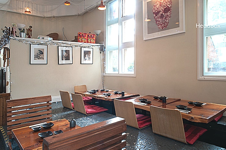 Upper Floor, Lunch Sitting **You can hire the upper floor at SUSHINOEN for your next private dining venue hire in London.** 