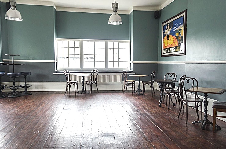 Function Room, Day Hire This beautiful room accommodates 40 people seated or up to 75 people standing.  Situated on the first floor with it's own toilets and a private bar, this room is ideal for all sorts!  With a projector