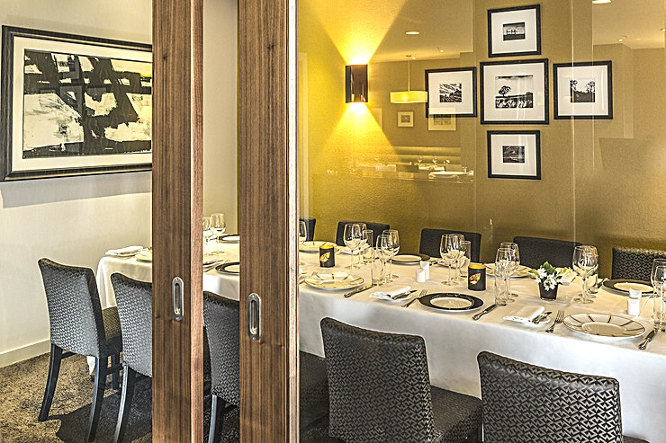 Private Dining Boardroom Hire the private dining room at Opus Restaurant Birmingham - a top Birmingham restaurant in the centre of the city that is perfect for a range of dining events.  The main restaurant itself is on Cor