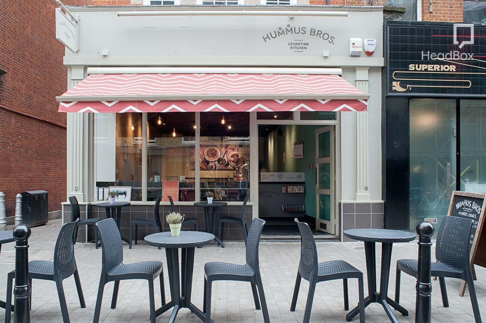 Exclusive Venue Hire, Hummus Bros Exmouth Market