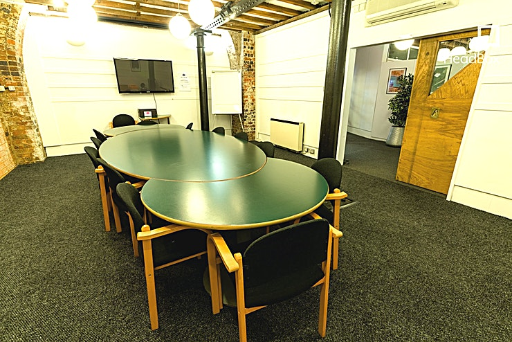 Boardroom **Hire the Boardroom at The Bond Company for one of the best options for meeting room hire in Birmingham.**  The Boardroom at The Bond will hold up to 12 people. It is an impressive Birmingham venue for hire to hold meetings in, with many classic features of the original warehouse building, including an exposed brick wall, cast iron pillars and a distinctive oak sliding door.   Perfect for: Team Meetings, Interviews, Breakout room.  Full day hire is £132 + VAT and half-day (four hours) is £82.50. This listing is for full day hire, if you want half-day please message and I will bespoke the price. This room cannot be hired out on a DDR basis, but there are F&B options available - please message. The Boardroom is also licensed for weddings, holding up to 25 guests for an intimate ceremony in a lovely historic setting. Get in touch for more information about hiring The Bond for a wedding or event.