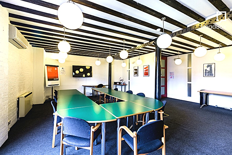 Gallery **Hire the Gallery at The Bond Company for your next meeting room hire in Birmingham.**  This unique meeting venue for hire holds up to a maximum of 30 delegates, the Gallery boasts exposed beams an