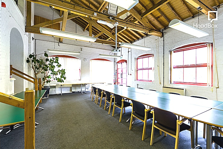 Conservatory Hire the Conservatory at The Bond Company for your next meeting room hire in Birmingham.   Fronting the cobbled courtyard of The Bond is our Conservatory. This room enjoys a double height ceiling, w