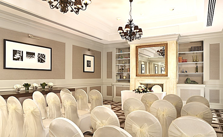 Drawing Room **Hire the Drawing Room at the Hyatt Regency for one of the best options for meeting room hire Birmingham has to offer.**    Located on Broad Street, and in the very heart of Birmingham, the Hotel is widely accessible by foot, bus, car and train. The Drawing Room provides 42 square metres of space for both business and pleasure and is ideal for small business meetings, private dinners and cocktail parties. The maximum capacity of the Drawing Room is 30 people theatre style or 25 people cocktail reception style.  It is located on the mezzanine level of the hotel and provides an intimate setting for smaller group meetings. Finished in subtle wood panelling, the room has an open fire-place and provides the atmosphere of a cosy dining room area within the hotel. The room can also be used as a break-out area for a larger event in the Sonata Room or Symphony Ballroom.  Our conference and banqueting team is there to help plan and assist you with your event, as well as to ensure everything run smoothly so that you can make the most of your day, please instant message for any more info.  Hyatt Regency Birmingham also offers a great, flexible catering service in which its Chefs work closely with the Event team to surpass the guests' expectations.