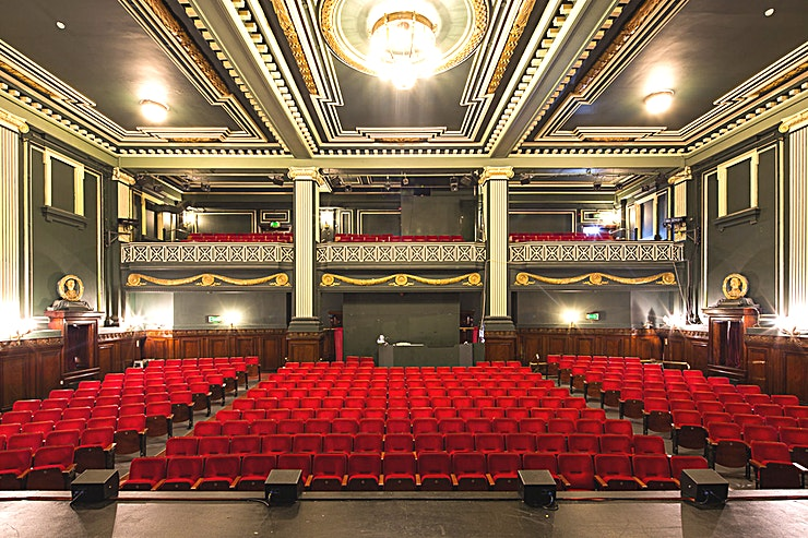 Theatre Auditorium **A unique Liverpool venue hire, The Auditorium in Epstein Theatre is available for a range of different events. Hidden away on Hanover street less than a ten minute walk from Liverpool Lime Street, this space offers a unique and completely bespoke intimate experience.**