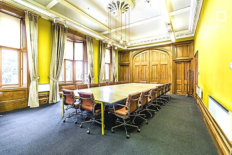 Brunel's Boardroom **Book The Brunel Boardroom at The Engine Shed for a creative Bristol venue hire ideal for meetings, conferences, workshops and training days.**   Engage your delegates in the original-thinking space of Isambard Kingdom Brunel. With original Victorian features and a separate lobby area, Brunel's Boardroom provides a sumptuous setting for meetings, training and presentations.  Seats 20 boardroom style. Can be linked with Brunel's breakout room. AV includes built-in 3D-ready, 2,500 Lumens projector and HDMI & SVGA inputs projecting onto the screen, and speakers with 1 lapel microphone.   If you're on the lookout for venues for hire, book one of the top meeting rooms Bristol has to offer.