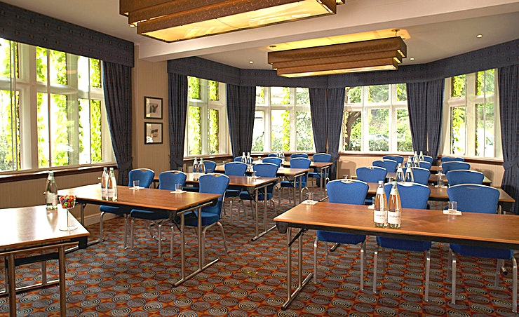 Worcester Suite Located on the first floor next to the lounge bar, the Worcester Suite is a large, airy meeting room with spectacular views of the Malvern Hills. The suite is a popular venue for family celebrations and occasions seating up to 24 for a boardroom meeting or 40 for a private dinner.