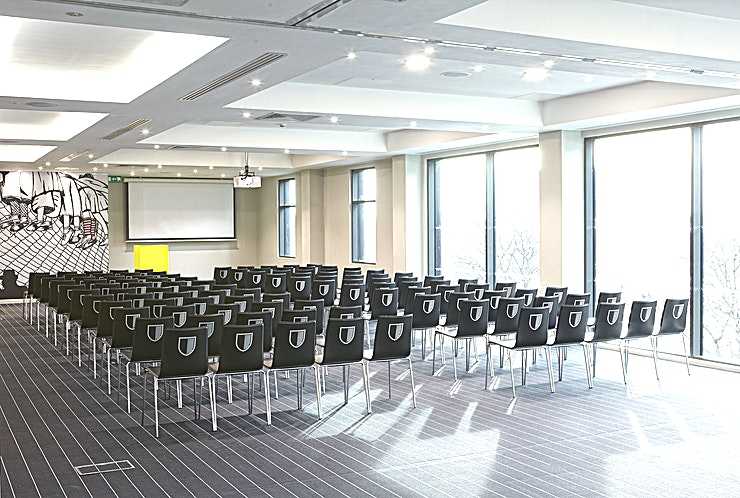 Stadium Suite **Hire the Stadium Suite at Hotel Football for a quirky venue hire in one of the top party venues Manchester has to offer.** 