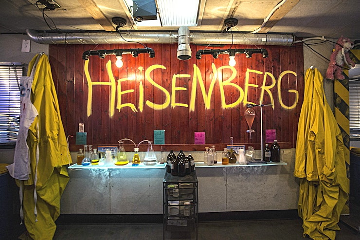 """ABQ London **Looking for a quirky venue to hire for your next party, celebration or team away day in London? Welcome to this Breaking Bad-inspired haven in the heart of East London.**   Walter White and the crew are back in town, and you can help them cook up a storm! For a quirky venue to hire in London for the best cooks in town. Step inside the ABQ London RV, AKA the Crystal Ship, and experience a range of molecular meth-inspired cocktails.   Get ready for DIY mixology surrounded by the mist of dry ice, a room full of fellow meth heads, head to toe in bright Hazmat suits and gas masks.  You'll feel like JP is right beside you when you hear the shouts of """"Yo Bitch"""" from every angle. The ABQ bar is one of the best options for party venues London has to hire with a quirky cocktail twist."""