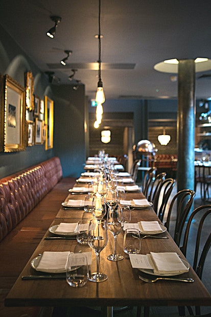 Venue Hire **Host a private dining event with the VIP edge in Fifteen, Jamie Oliver's flagship restaurant. You can have complete restaurant venue hire of the most impressive London restaurants to really impress your guests.**  The menu at Fifteen takes its inspiration from around the world, using fantastic British produce to create unique, seasonal dishes with exciting flavours. Complete with a gin-based bar that serves a wide variety of classic and experimental cocktails, Fifteen offers the complete dining experience whatever the occasion for up to 120 guests for your unique event.