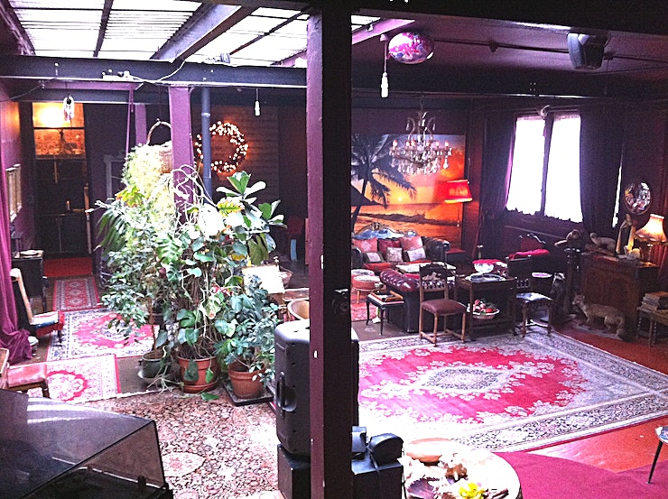 Day Hire, Studio Kontiki Studios North perfectly fuses the aesthetic qualities of a gentleman's smoking club with a museum of curiosities and the waiting area of Toulouse Lautrec's favourite bordello.