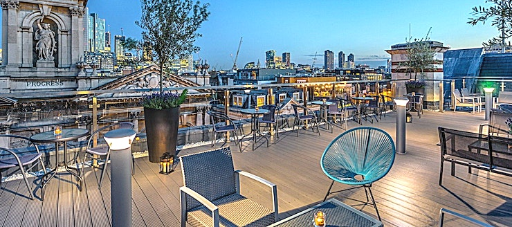Upper 5th Shoreditch  **Sitting above the old magistrates building on Old Street, the Shoreditch Sky Terrace is the latest rooftop venue to open, offering stunning views of Central London's most iconic sites.**   The idy