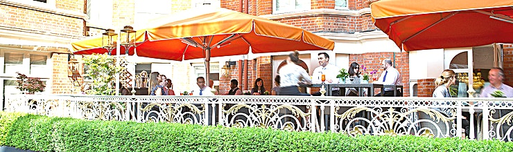 The Caxton Terrace The Caxton Terrace, at St. Ermin's Hotel is perfect for a refreshing beer after work, or a cocktail before dinner. The Terrace also serves a tantalising selection of bar snacks and sharing plates to complete this outdoor experience.  This spacious terrace can be exclusively reserved for private events and functions, such as wedding receptions, birthday parties – in fact the sky's the limit.  The Terrace is open from May-September Weather permitting.