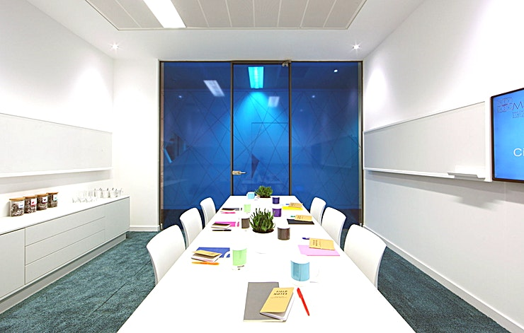 Meeting Room **Book the Meeting Rooms at Citylabs 1.0 for your next corporate event in central Manchester.**  Citylabs 1.0 is home to three intimate meeting rooms; each equipped with a presentation screen and white boards across three walls. These spaces seat up to 8 people, with the latest teleconferencing technology to make connecting easy. Each room also comes with free tea and coffee for as long as your meeting lasts, with our reception team on hand to help with any special requests so you'll have everything you need in one of the best venue hire options in Manchester for corporate events.   Citylabs 1.0 can be found on the Central Manchester University Hospitals NHS Foundation Trust (CMFT) campus, in the heart of Manchester's Innovation District and on the largest clinical academic campus in Europe.   This beautiful Grade II listed building seamlessly blends cutting-edge, purpose-built laboratories with office and conference facilities. The perfect spot to host both small meetings and larger events, Citylabs 1.0 brings old and new together in a space that's certain to impress.