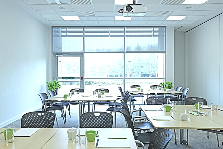 Helix Room 2  **Book and pay for the Helix Room Two, located within Alderley Park, for your next corporate meeting room hireor ideation workshop.**  Alderley Park's three large Helix meeting rooms accommodate up