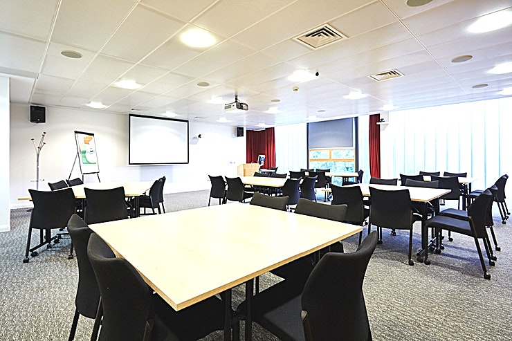 Conference Room 2 **Book the second conference room within the Salford Innovation Forum, which offers an inspiring space for your next board room or workshop.**