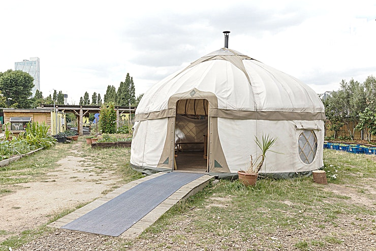The Yurt **Hire this quirky London venue for your next event, the Yurt at Spitalfields City Farm gives you one of the most unique venue hire London has offer!** 