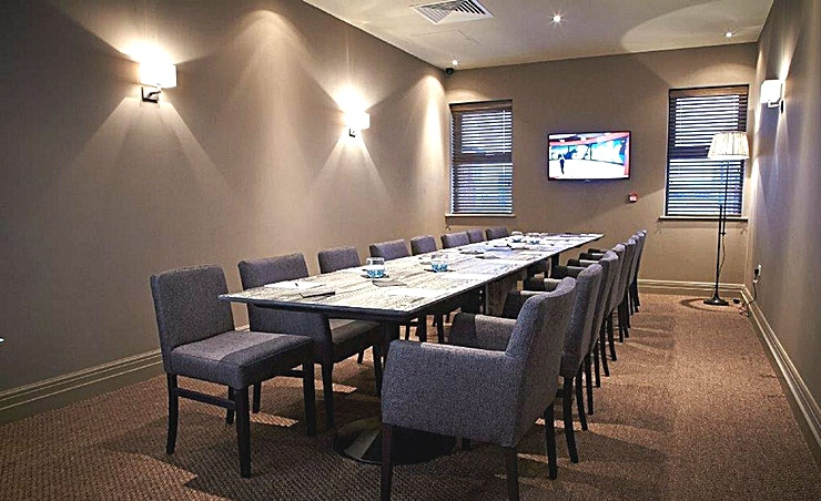 Private Dining Room Seven has two beautiful private dining rooms, seating 16 people in each with full WiFi access and visual presentation facilities available. Whether you'd like to host a company lunch with just your colleagues or have a private evening celebration; we can accommodate. 
