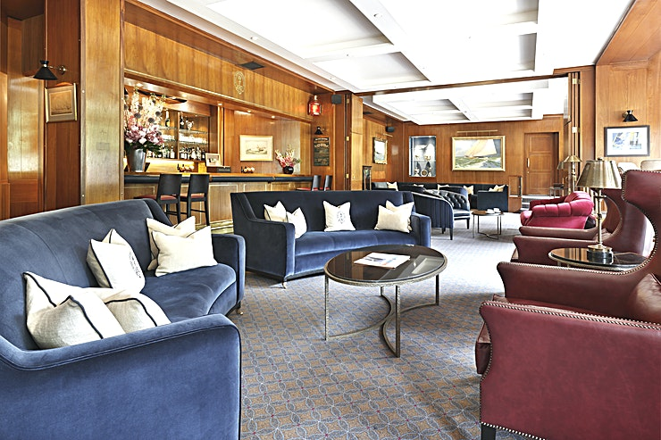 Britannia Bar **On the ground floor, the Britannia Bar is ideal for canapes receptions or pre-dinner drinks and can accommodate up to 110 people standing.**   By extending into adjoining rooms capacity can be inc