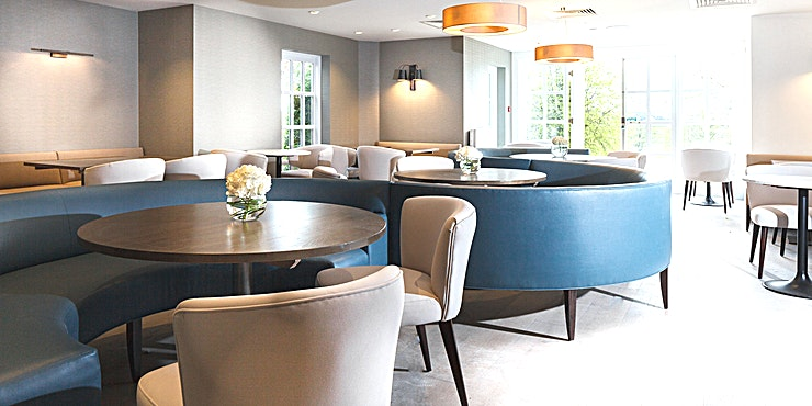 Rose Garden Room Situated within beautiful landscaped gardens and surronded by vast parkland, Eastwell Manor, Ashford, Kent, offers a wonferful backdrop and will provide a memorable experience for your company and clients.