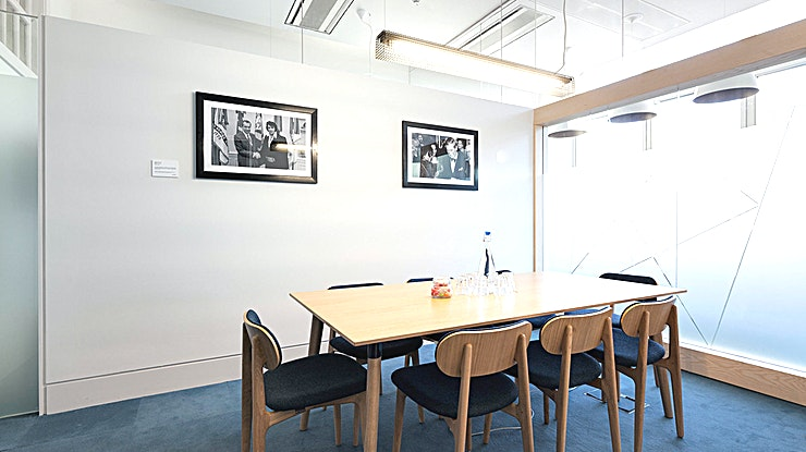 Meeting Room 2 **Book the Meeting Room 2 at The Office Group Eastside for your next London meeting room hire.**  Meeting Room 2 is an ideal meeting room to hire for a meeting, training day, presentation or interview in a Space that can accommodate up to 8 delegates. Located right next to Kings Cross station this is an ideally located London meeting room to hire.    Our meeting rooms are used for everything from away days, interviews and training courses to product launches, castings and pop-up shops. All 250 are bright, fresh and beautifully designed. You don't have to be a TOG member to book a meeting room in one of our 29 buildings…but you get a 15% discount if you are.  So if you're on the look out for venues for hire, book one of the top meeting rooms London has to offer!