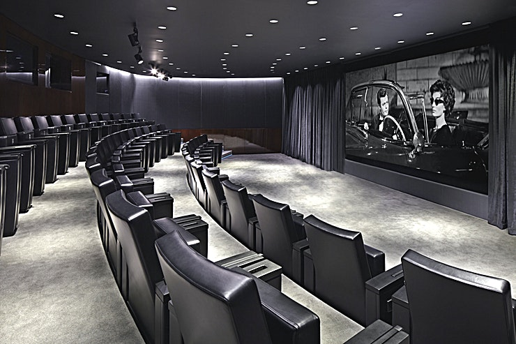 Cinema & Cinema Foyer **Hire the Cinema & Cinema Foyer at the Bulgari Hotel in London for a unique conference venue and screening room.**   Bulgari Hotel is located in Knightsbridge on the edge of Hyde Park - Bulgari Hotel London is both a haven of calm in the centre of the city and yet under a minute's walk from such landmarks as the famous Harrods department store. Since opening in 2012, Bulgari has set new standards among the luxury hotels of the British capital. Elegant contemporary architecture and Bulgari's legendary flair for design are matched by class-leading quality of service. Design, service, and exceptionally generously proportioned rooms and suites combined with unrivalled facilities such as a full gymnasium and physical training centre with on-site personal training team; 11 single treatment rooms and 1 private spa suite Spa; 25 metres, three-lane swimming pool; 47 seat cinema; unique Cigar Shop and sampling room, a stunning Ballroom; to deliver a city hotel experience that is unique in the world.  The Screening Room, dedicated to Sir Richard Attenborough, is a unique 47-seat cinema at the Bulgari Hotel. Offering the ultimate exclusive experience, it features the most advanced cinema-quality HD sound and vision, 4K resolution in 2D or the latest Dolby 3D. A curated library has over 200 new and classic films. As well as hosting film premieres and private screenings, the multi-function room is ideal for press events and corporate presentations. There is every feature one would expect including live screening and playback of broadcast, integrated technology with individual electronic voting and microphones as well as dedicated Audio Visual Support. The room is perfectly insulated to ensure zero sound reverberations.