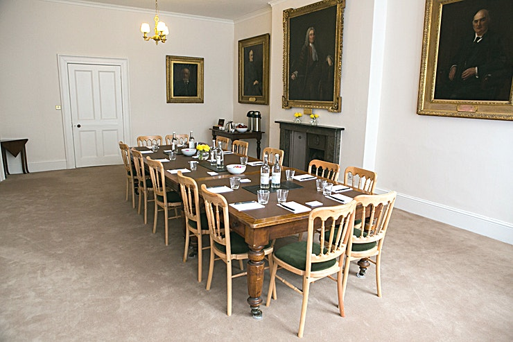 The High Sheriffs Room **Hire The High Sheriffs Room at The Old Shire Hall for a beautiful venue hire in Warwick.**  The Old Shire Hall is a venue brimming with history, built by William and David Hiorn in 1750 this venue is a magnificent Grade I listed building including the main hall, three courtrooms and cells.  Located on the ground floor of the Grade II listed Judge House, this light & airy room overlooks the landscaped garden and is ideal for boardroom meetings or private dining events. The High Sheriffs Room is the perfect backdrop for any event with an inspiring amount of history and grandeur.