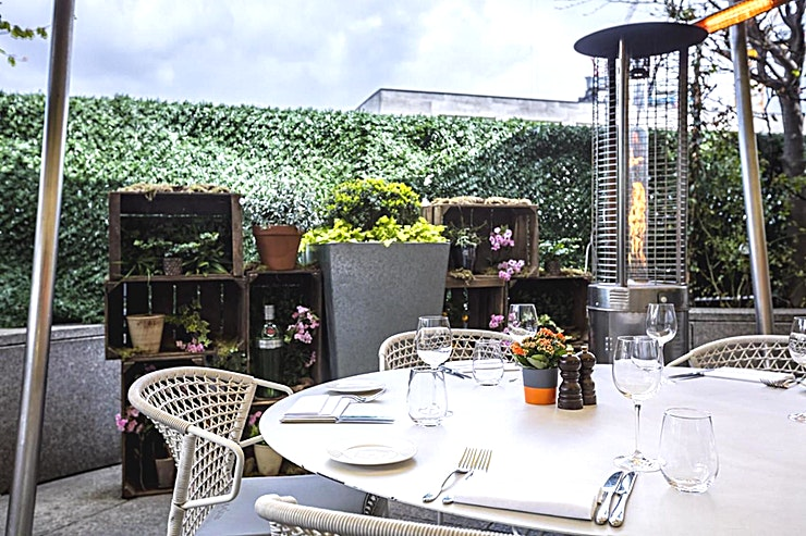 Bar Terrace **Hire the Bar Terrace at Coq D'Argent for one of the best party venues London has to offer!**   Hire this unique spot for your next Alfresco private party venue hire in London or for a quirky priva